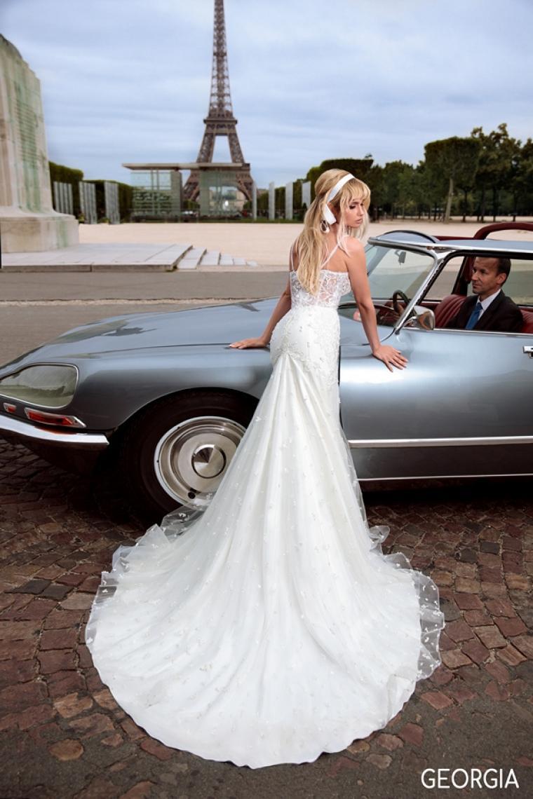 """Свадебное платье Georgia """"Allegresse"""" Стоимость 34 000 гривен. С кейпом."""